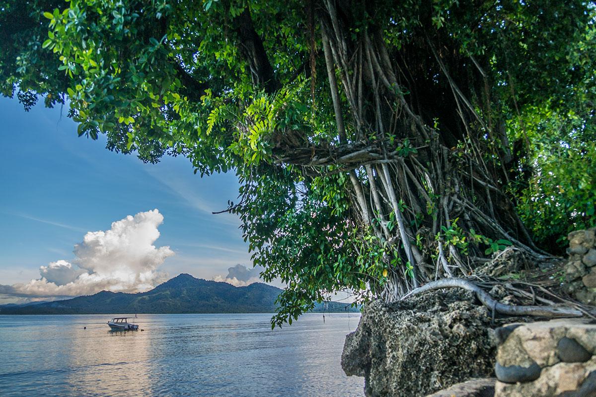 View from Beach, Seabreeze Resort, Bunaken Island, Manado, Indonesia