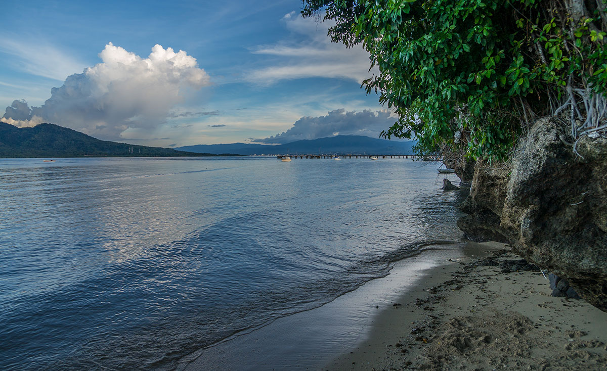 View from Beach, Seabreeze Resort, Bunaken Island, Manado, Indonesia