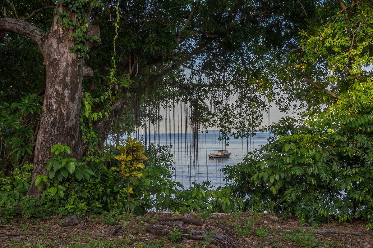 View from Sea Front Bungalow, Seabreeze Resort, Bunaken Island, Manado, Indonesia