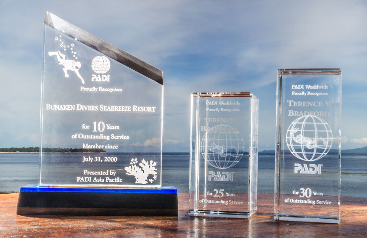 PADI Trophies, Seabreeze Resort, Bunaken Island, Manado, Indonesia