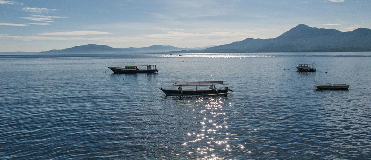 View from Restaurant, Buffet, Seabreeze Resort, Bunaken Island, Manado, Indonesia