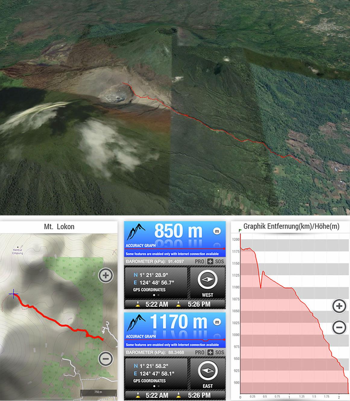 Google Earth Altitude Mt Lokon