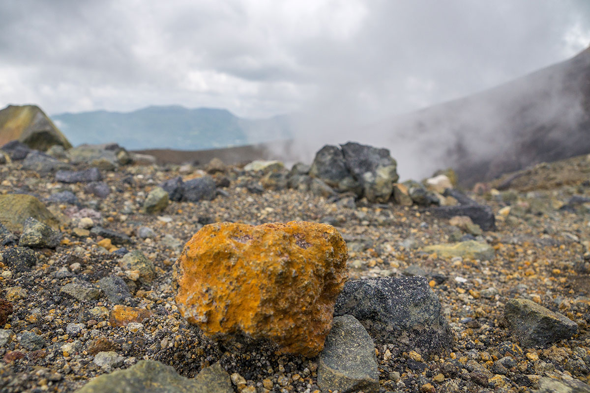 Lava Rock at Mt. Lokon, Manado, Indonesia