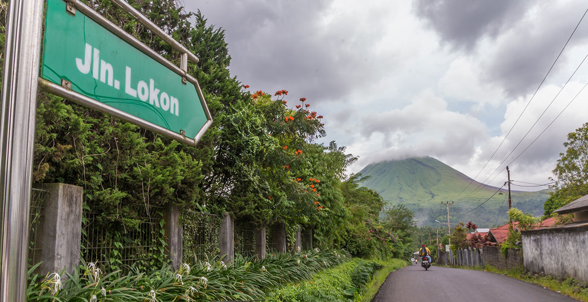 View of the Mt. Lokon, Manado, Indonesia
