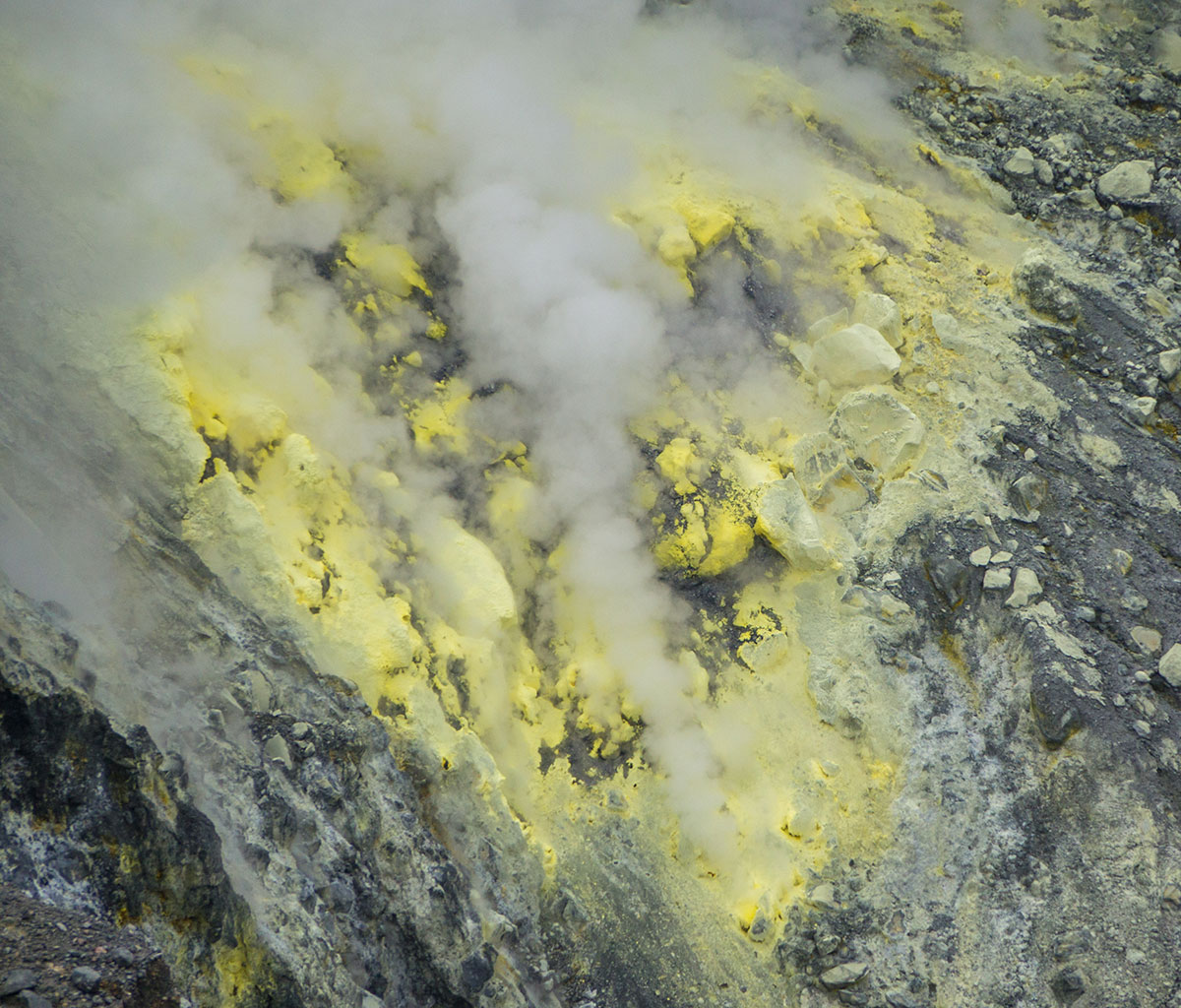 Crater of Mt. Lokon, Manado, Indonesia