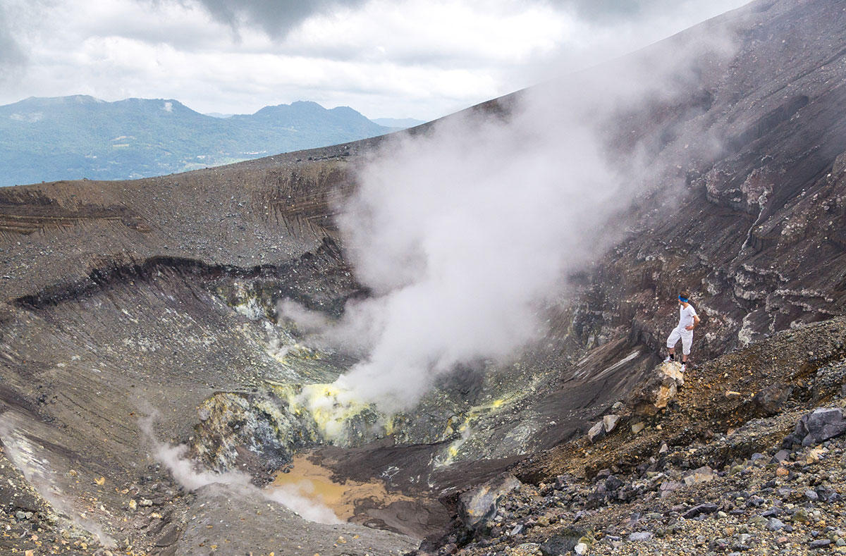 View into Crater of Mt. Lokon, Manado, Indonesia